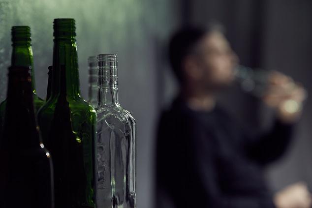 Puste butelki po alkoholu